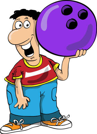 skittles: The person plays bowling and holds a sphere
