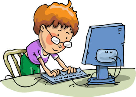 computer training: The Boy With The Computer