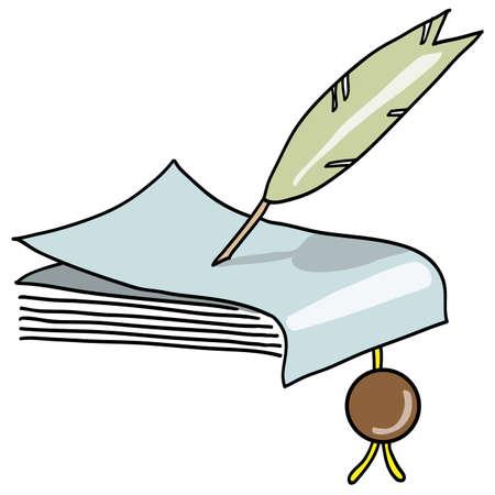 prosa: La penna scrive il manoscritto