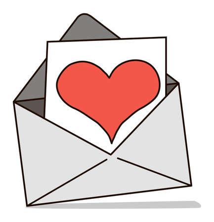 saint valentines: Mail, una lettera di congratulazioni per Valentino San