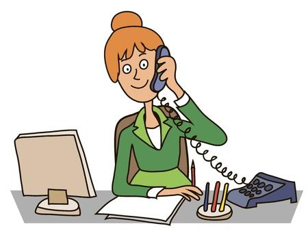 Secretary in the office Фото со стока - 130911677