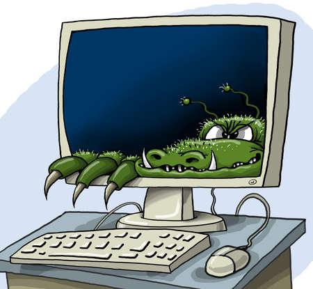 computer virus: Computer virus Stock Photo