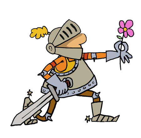 рыцарь дарит цветы даме картинка гангстерском