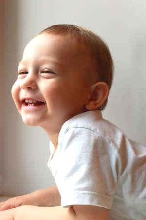 Closeup portrait of smiling baby. Stock Photo - 11489187