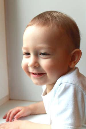 Closeup portrait of smiling baby. Stock Photo - 11489177