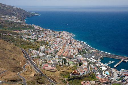 Cityscape op Santa Cruz, capital city of La Palma, Canary Islands Stock Photo - 5077030