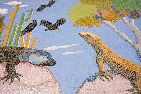 Mosaic at La Palma (Canary Islands) photo
