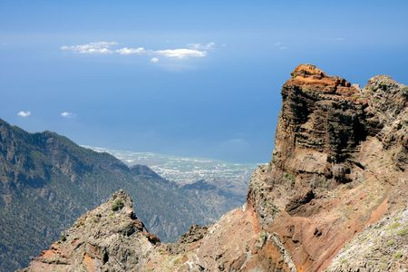 Panorama from highes point of La Palma