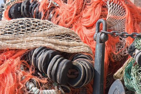 throwaway: Old anchor and fishing nets