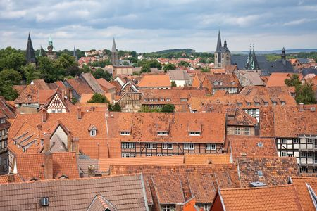 Cityscape of medieval city Quedlinburg, Germany Stock Photo - 5327086
