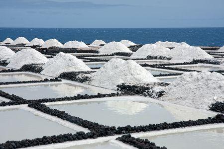 Zoutwinning op La Palma, Canarische eilanden Stockfoto - 5972392