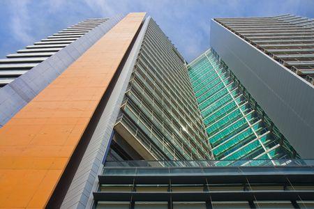 Facade of a skyscraper in Barcelona, Spain Stock Photo - 6641619