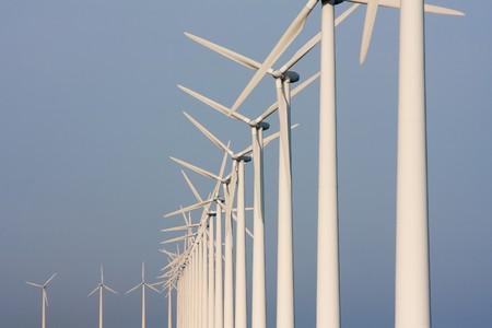 colonade: Dutch colonade of windmills, facing the sky