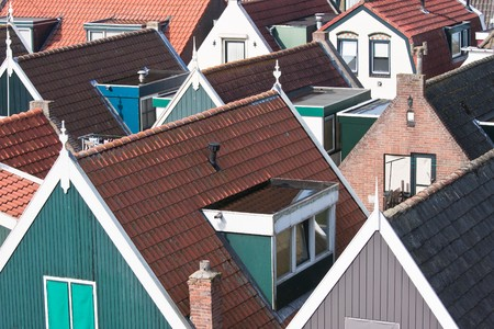 Facing the many roofs of an old village in the netherlands Stock Photo - 8048962