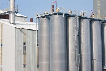Many big silos of a Dutch factory photo