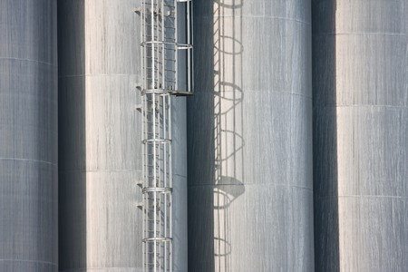 Detail of some big silos of a Dutch factory photo