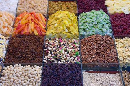 Candy shop in Barcelona with dried fruits Stock Photo - 8983365