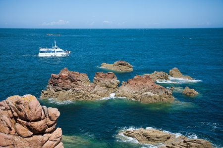 Rocky coast of Brittany in France Stock Photo - 8983390