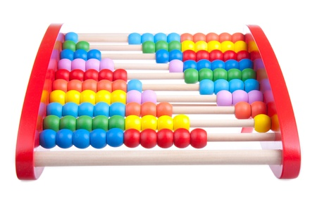 Wooden abacus isolated on white Stock Photo - 9078191