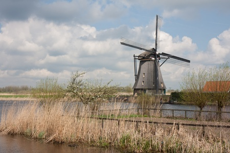 Historic Windmill in the Netherlands photo