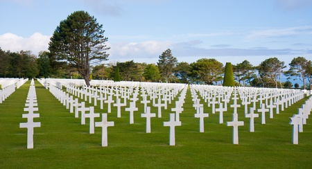 American WW2 cemetery at Omaha Beach, Normandy, France Stock Photo - 9555781