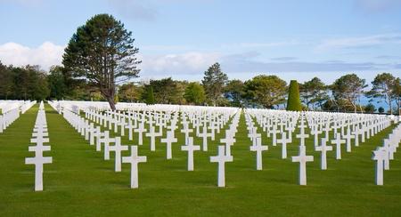 omaha: American WW2 cemetery at Omaha Beach, Normandy, France