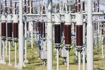 High power electricity system with several transformers photo