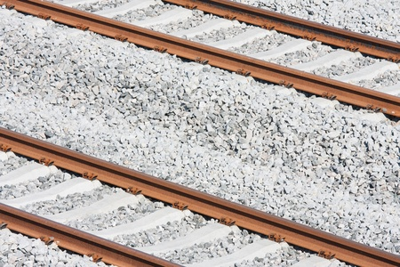Tracks of a new railway in the Netherlands photo
