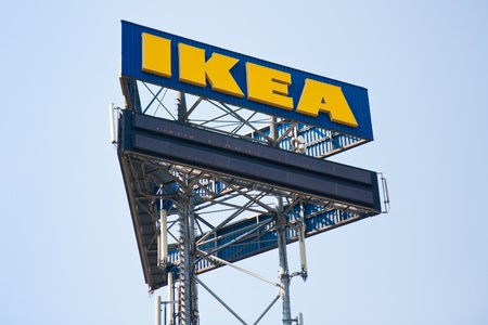 UTRECHT, THE NETHERLANDS - JUN 28: A big billboard of IKEA near a highway on June 28, 2011 near the city Utrecht in the Netherlands Editorial