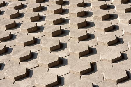 outdoor slope of symmetrical hexagonal stones Stock Photo - 10654697