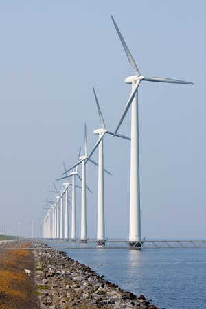 Offshore wind turbines in the Dutch sea photo