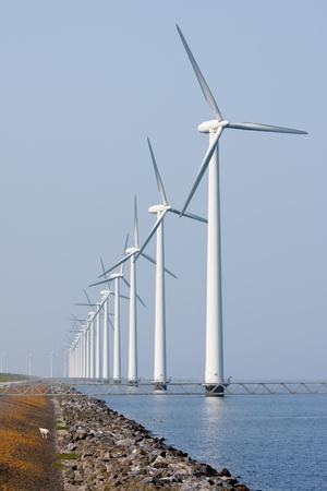 Offshore wind turbines in the Dutch sea photo