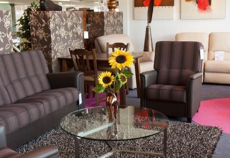 Showroom voor retail van moderne meubels Stockfoto - 10685462