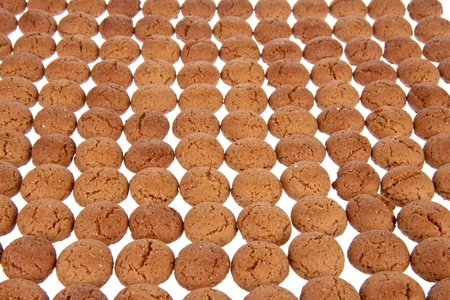 '5 december': Background of ginger nuts, Dutch sweets for the celebration of Sinterklaas at 5 december Stock Photo