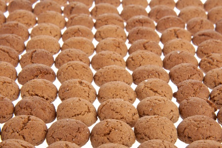 gingernuts: Background of ginger nuts, Dutch sweets for the celebration of Sinterklaas at 5 december Stock Photo