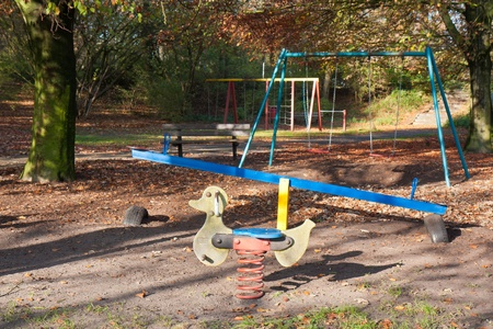 Dutch playground in the woods photo