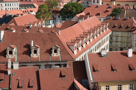 Aerial view of houses in Praha, capital city of the Czech Republic Stock Photo - 11713641