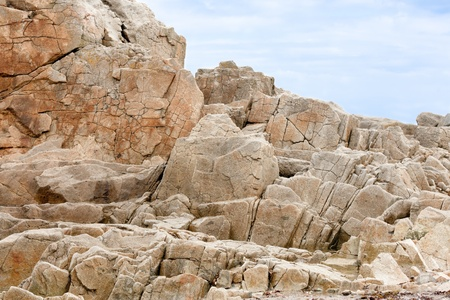 Coast with famous pink granite rocks in Brittany, France Stock Photo