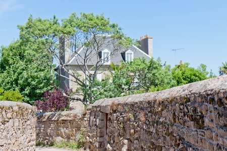 Cottage at the island of lle de Brehat, Brittany, France
