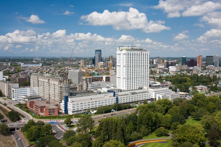 Aerial view of the Erasmus university hospital of Rotterdam, the Netherlands photo