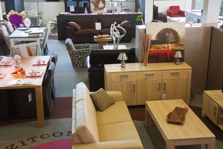 Shop with modern furniture photo