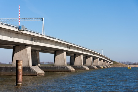 Big concrete bridge in the Netherlands photo