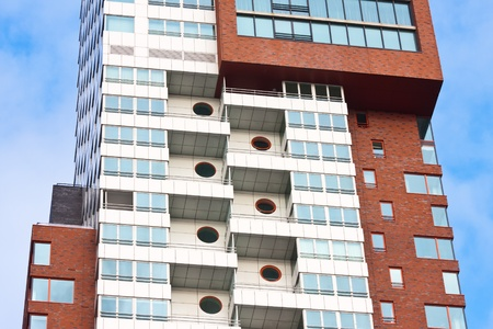 Detail of a modern tower building with flats 免版税图像 - 12625123