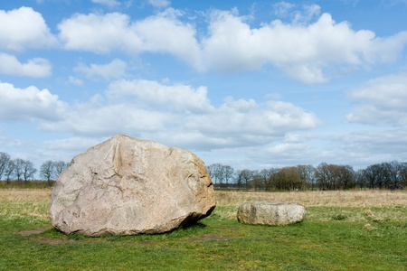 eiszeit: Megalith Steine ??in den Niederlanden. Diese Steine ??sind in den Niederlanden in der letzten Eiszeit transportiert.