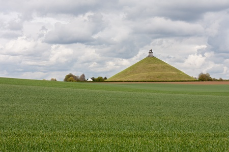 Lions Mound, Monument raised on the battlefield of Waterloo where Napoleon was defeated, Belgium Stock Photo