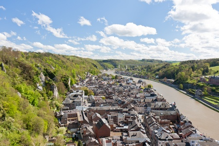 meuse: Cityscape of Dinant at the river Meuse, Belgium