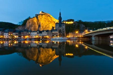 Cityscape van Dinant aan de Maas, België Stockfoto - 13647105