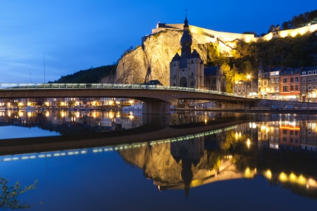 Cityscape of Dinant at the river Meuse, Belgium photo