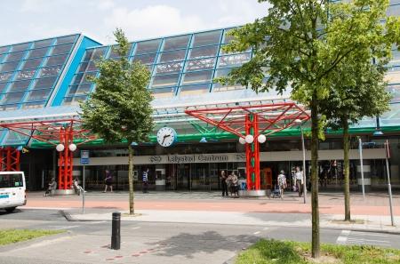 lelystad: LELYSTAD, THE NETHERLANDS - JUNE 29: The central station of Lelystad