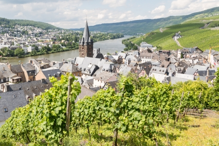 mosel: Aerial view of BernKastel-Kues at the river Moselle in Germany